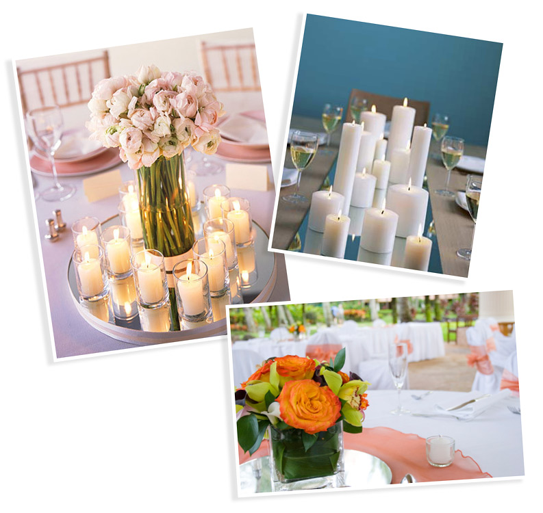 centerpiece mirrors and table mirrors