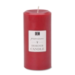 "Pillar Candle 2.8""x5.8""H - Red, Cinnamon Scented"