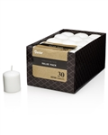 Votive Candles, Unscented, White (Pack of 30)