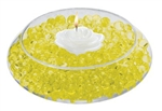 Water Absorbent Marbles, Water Beads, Yellow - 1 Pound Bag