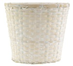 Bamboo White Washed Pot Cover