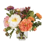 Peony Silk Flower Arrangement