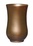 "9"" Hurricane Vase, Caramel Ice, 4/case"