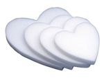 "18"" STYROFOAM® Solid Heart, 12/case"