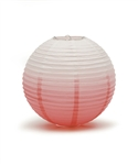 Ombre Colored Round Paper Lanterns (Pack of 24) - Watermelon, 12""