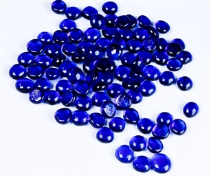 Flat Cobalt Blue Marbles 5 Pound Bag